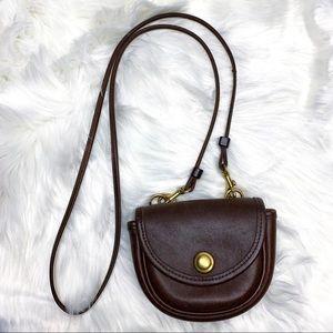 Vintage Leather Coach Crossbody or Belt Bag Brown